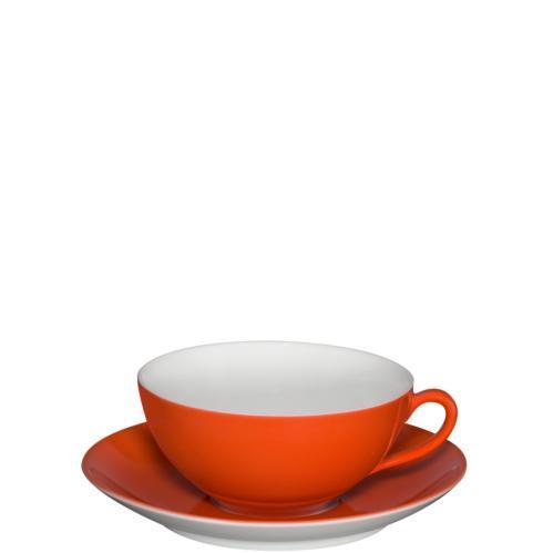 $47.00 Tea Cup & Saucer Red