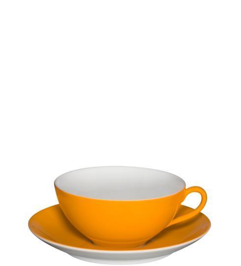 $47.00 Tea Cup & Saucer Light Orange