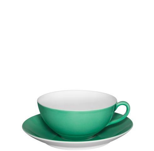 $50.00 Tea Cup & Saucer Light Green