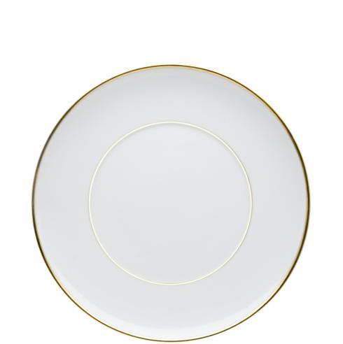$25.00 Dinner Plate White And Gold
