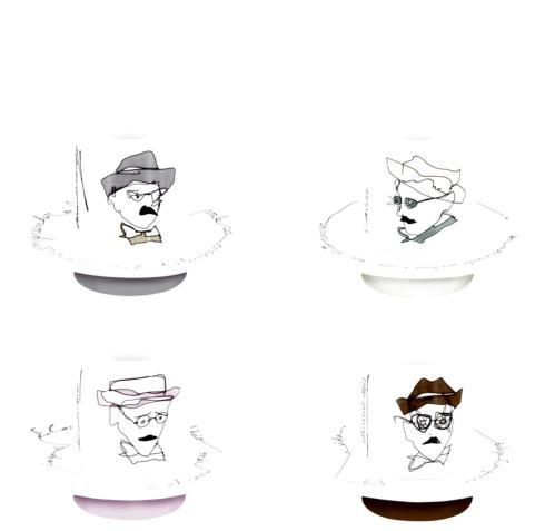 $116.00 Set 4 Coffee Cups & Saucers