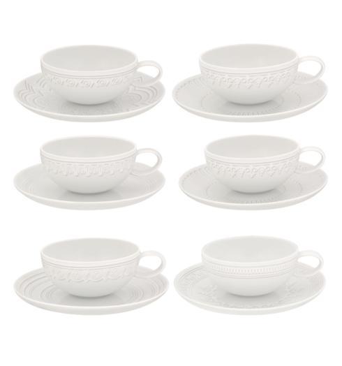 $195.00 Set Of 6 Tea Cup & Saucer
