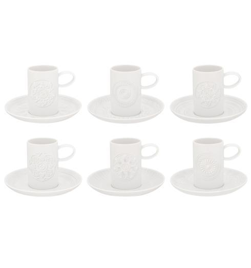 $165.00 Set Of 6 Coffee Cup & Saucer