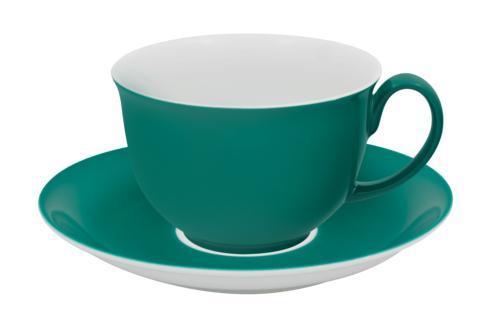 $44.00 Coffee Cup & Saucer Light Green