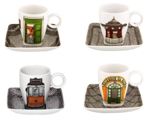 Set 4 Cups & saucers