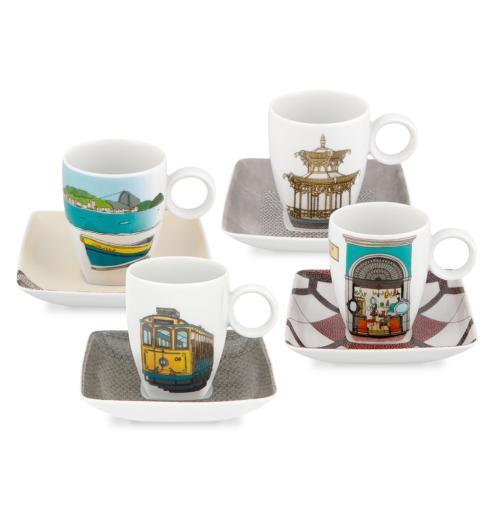$135.00 Set 4 Cups & Saucers (With Gift Box)