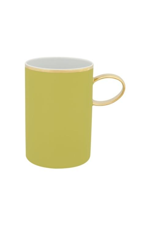 $25.00 Mug Green And Gold