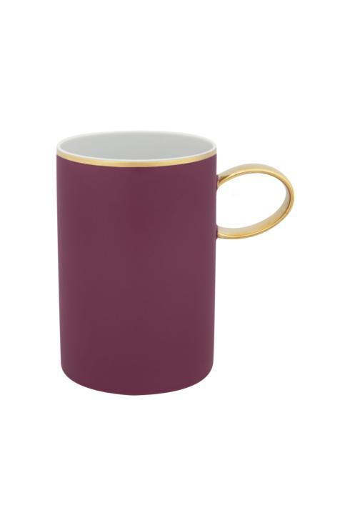 $25.00 Mug Burgundy And Gold