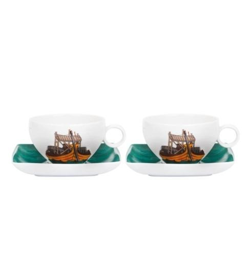 $100.00 Set 2 Tea Cup & Saucer (With Gift Box)