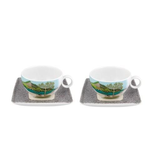 $100.00 Set 2 Tea Cup & Saucer (With Gift Box)
