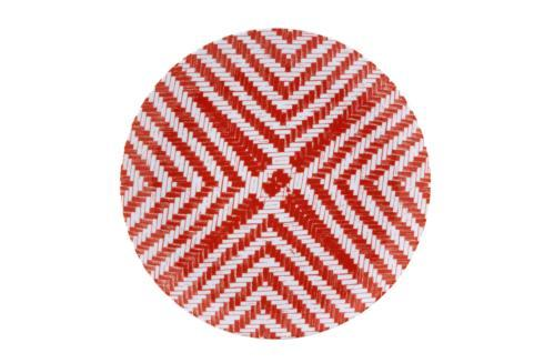 $21.00 Dinner Plate Red