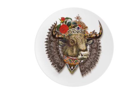 $50.00 Dessert Plate Monseigneur Bull