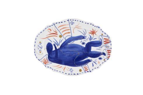 $116.00 Small Platter Blue