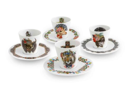 $165.00 Expresso Cups and Saucers – Set of 4