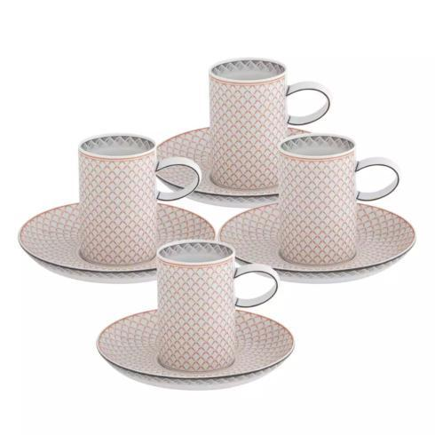 $180.00 Coffee Cup & Saucer – Set of 4
