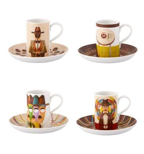 Pessoa Expresso Cups And Saucer – Set of 4