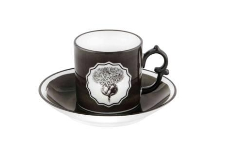 $65.00 Black Coffee Cup and Saucer