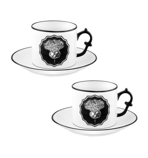 $155.00 White Tea Cups and Saucers – Set of 2