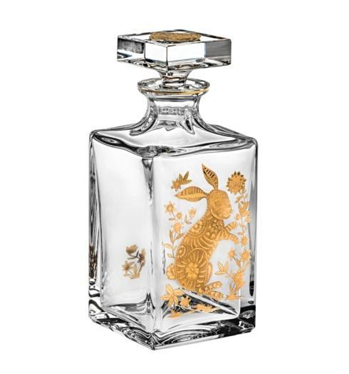 $395.00 Whisky Decanter with Gold Rabbit