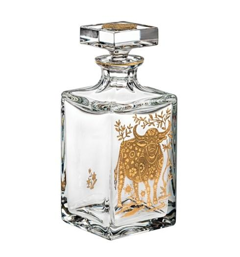 $395.00 Whisky Decanter with Gold Ox