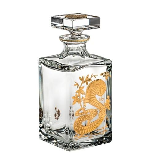 $395.00 Whisky Decanter with Gold Snake