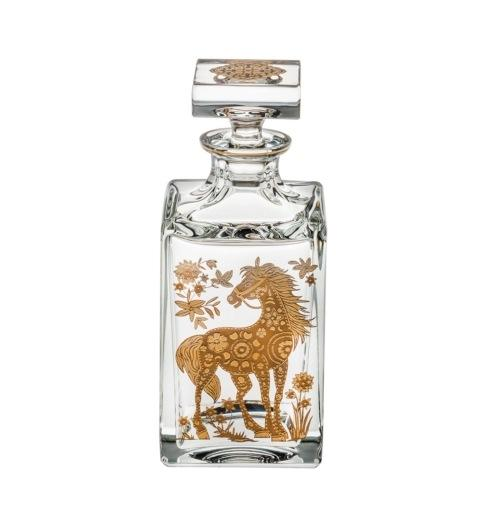 $395.00 Whisky Decanter with Gold Horse