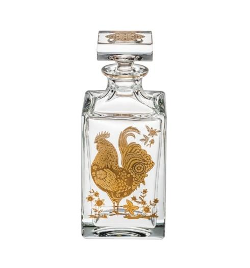 $395.00 Whisky Decanter with Gold Rooster