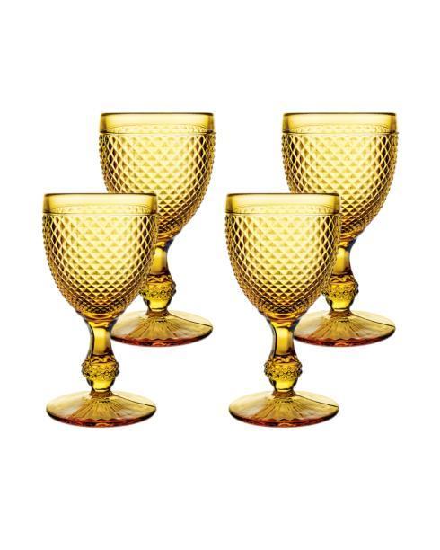 $70.00 Set 4 Goblets Amber