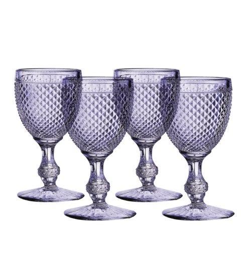 $70.00 Set 4 Goblets Lavender