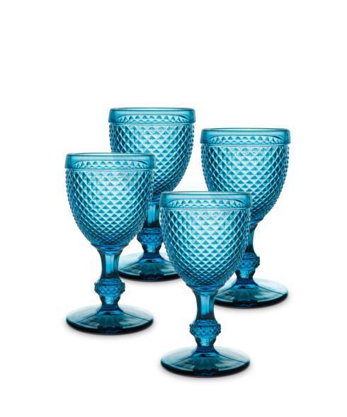 $80.00 Set 4 Goblets Blue