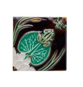 $101.00 Tile Frogs With Waterlily