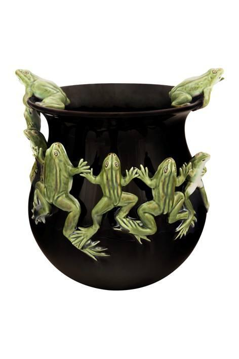 $550.00 Tall pot with dancing frogs