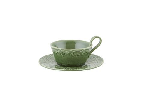 $44.00 Tea Cup and Saucer - Green
