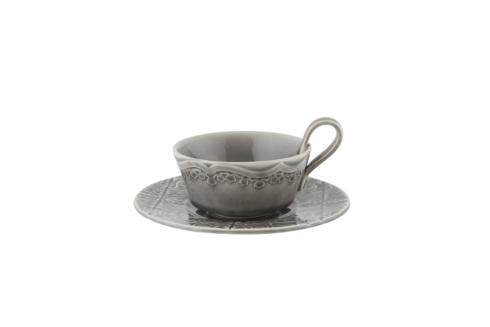 Tea Cup and Saucer - Anthracite