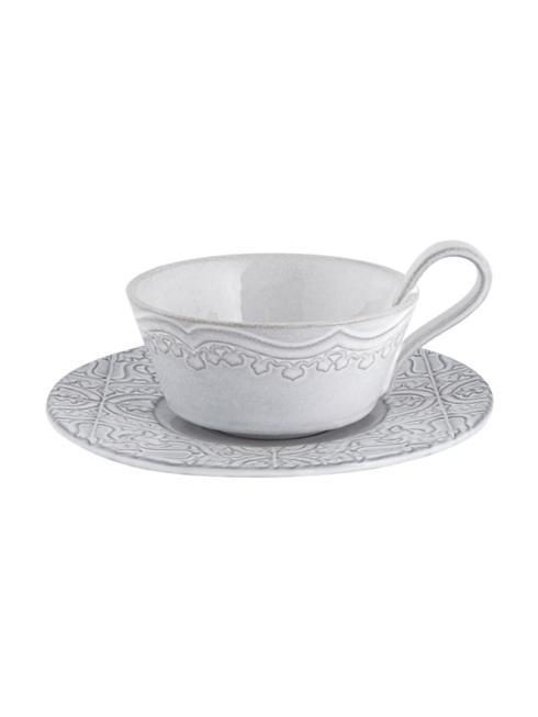 $44.00 Tea cup and saucer - Antique White