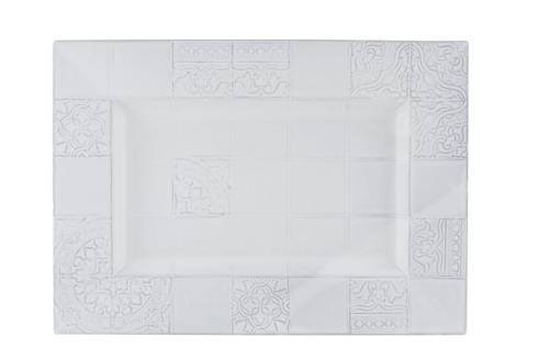$94.00 Platter 45.5 - Antique White