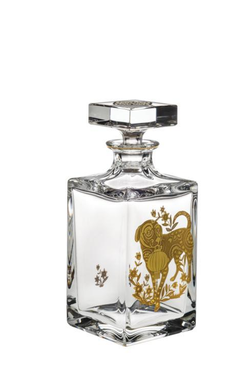 $395.00 Whisky Decanter with Gold Dog