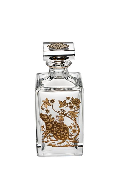 $395.00 Whisky Decanter with Gold Rat
