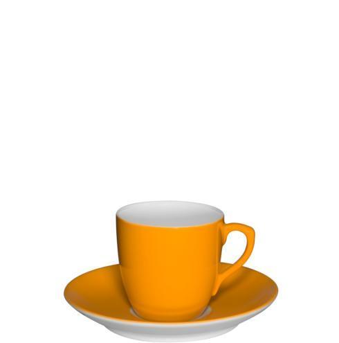 $44.00 Coffee Cup & Saucer Light Orange