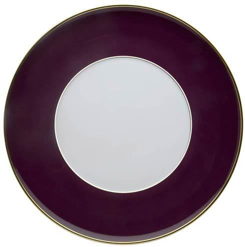 $75.00 Charger Plate Bordeaux and Gold