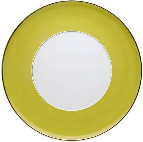 Charger Plate Green and Gold
