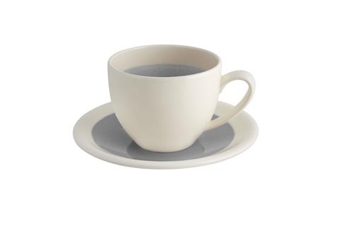 $16.00 Breakfast Cup And Saucer - Grey