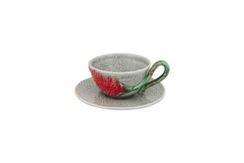 $29.25 Tea Cup And Saucer Red Ginger
