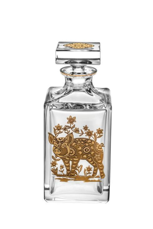 $395.00 Whisky Decanter with Gold Pig