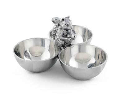$65.00 3 nut Bowl - Squirrel