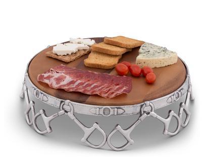 """$143.00 Wood Cheese Pedestal 13"""" - Equestrian"""