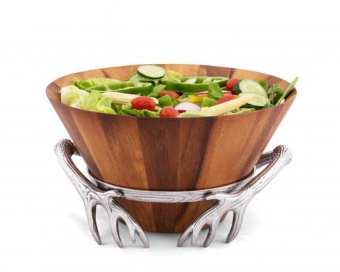 Arthur Court  Antler Antler Wood Salad Bowl $99.00