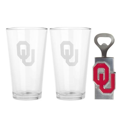 Pub Glass/Opener Set