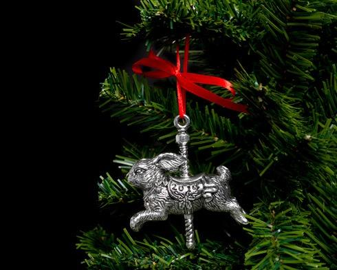 2014 Bunny Carousel Ornament