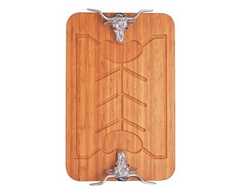 Arthur Court  Longhorn Bamboo Carving Board $125.00
